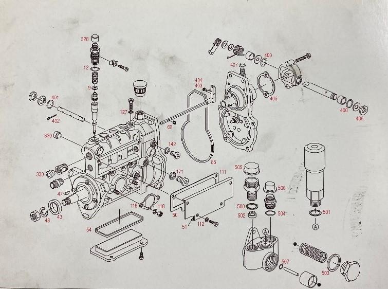 Bosch adagoló robbantott ábra